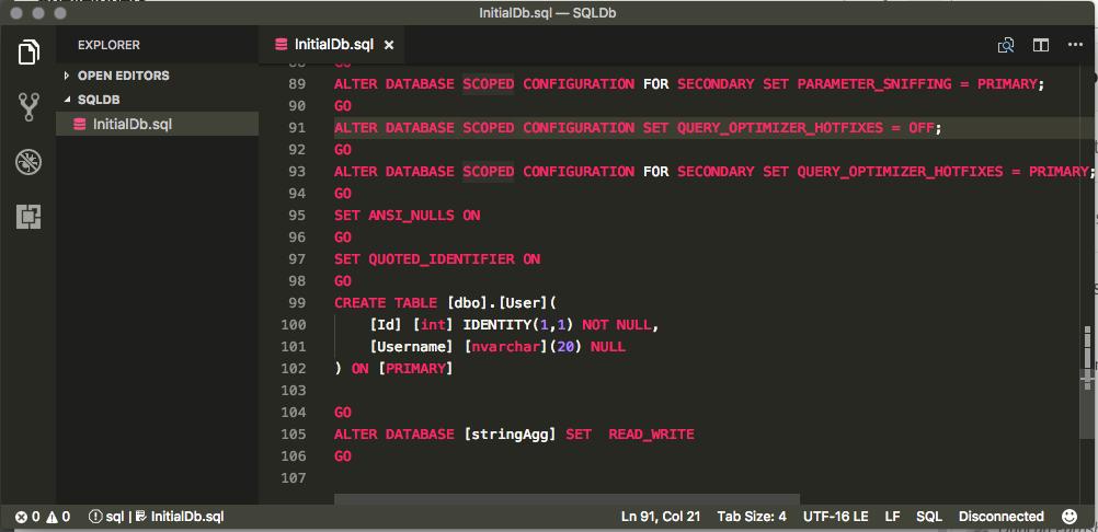 DB Creation Script