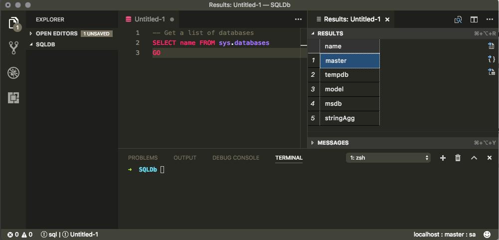 List Database In VS Code