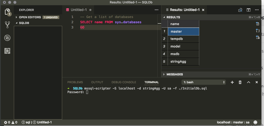 MSSQL-Scripter From VS Code