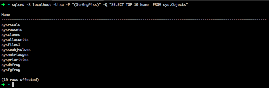 Connecting to SQL with SqlCmd