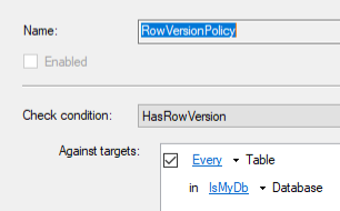 Has ROWVERSION Policy
