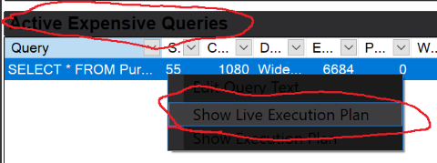 Live Query Stats From Activity Monitor