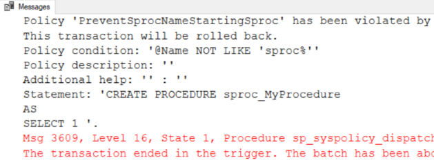 SP Policy Prevent Error